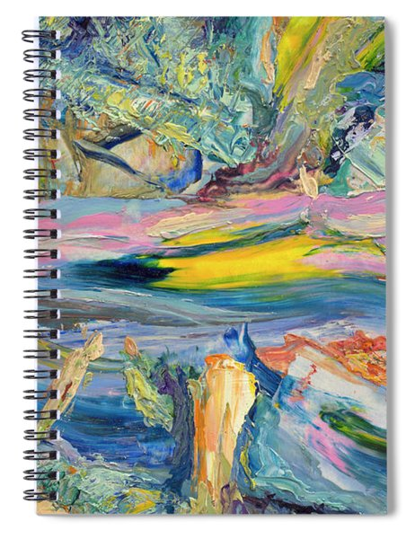 Spiral Notebook featuring the painting Paint Number 31 by James W Johnson