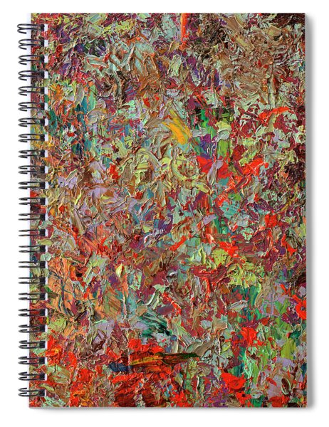 Spiral Notebook featuring the painting Paint Number 33 by James W Johnson