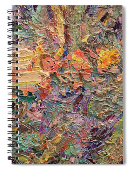Spiral Notebook featuring the painting Paint Number 34 by James W Johnson