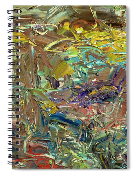 Spiral Notebook featuring the painting Paint Number46 by James W Johnson