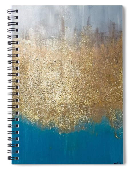 Paint The Sky Gold Spiral Notebook