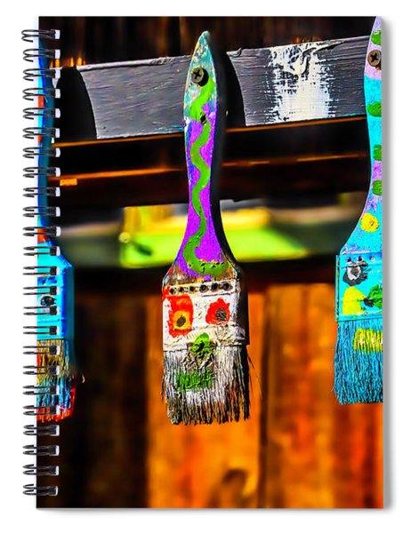 Paintbrush Faces Spiral Notebook