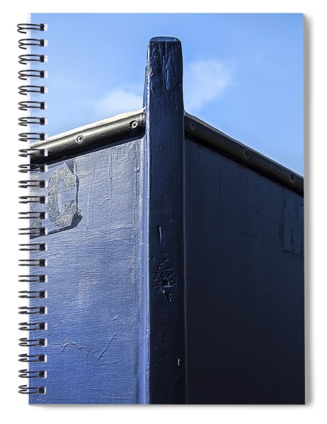 Painted Boat Bow Spiral Notebook