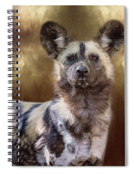 Painted Dog Portrait II Spiral Notebook