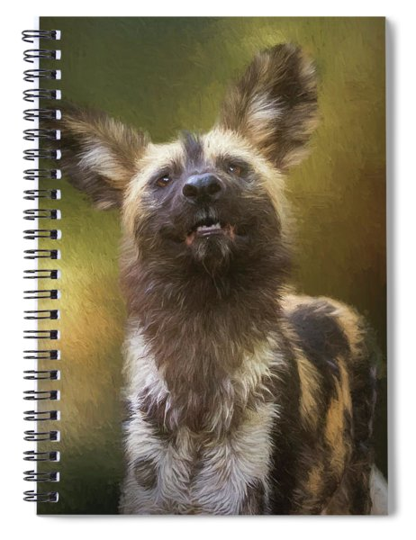 Painted Dog Portrait Spiral Notebook