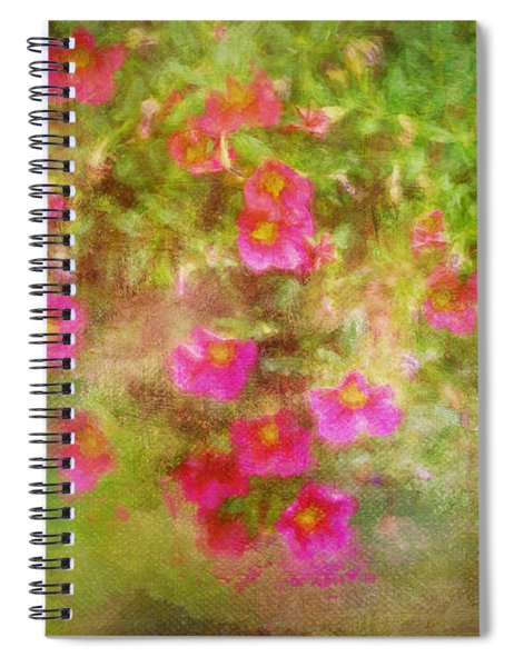 Painted Flowers Spiral Notebook