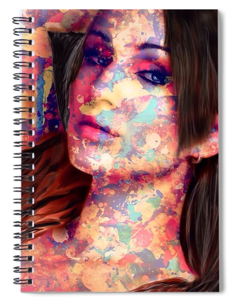 Painted Lady Spiral Notebook