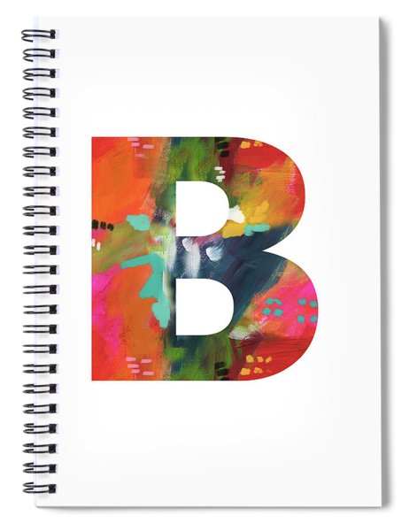 Painted Letter B-monogram Art By Linda Woods Spiral Notebook