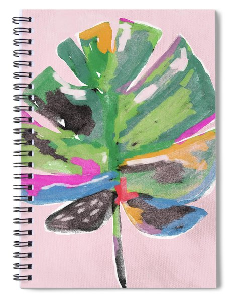 Painted Palm Leaf 2- Art By Linda Woods Spiral Notebook