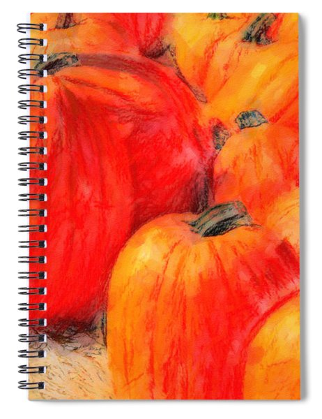 Painted Pumpkins Spiral Notebook