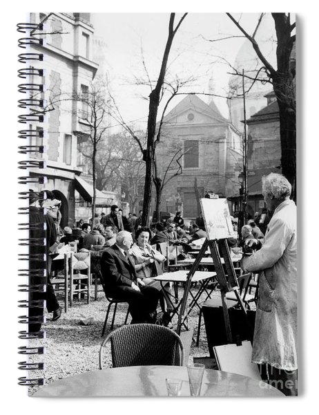 Painter On The Place Du Tertre In Montmartre, Paris, 1958  Spiral Notebook