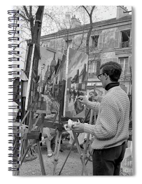 Painters In Montmartre, Paris, 1977 Spiral Notebook
