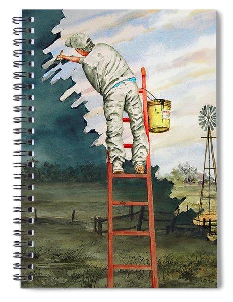 Paintin Up A Storm Spiral Notebook