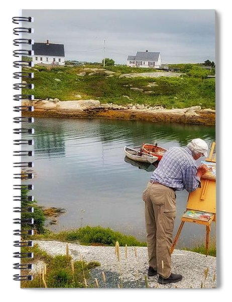 Painting Peggys Cove Spiral Notebook