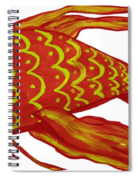 Painting Red Fish Spiral Notebook