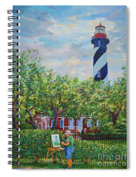 Painting The Light Spiral Notebook