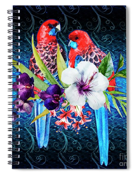 Paired Parrots Spiral Notebook