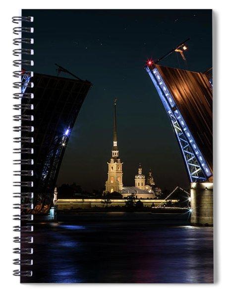 Palace Bridge At Night Spiral Notebook