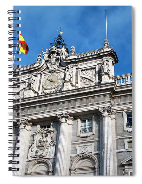 Spiral Notebook featuring the photograph Palacio Real by Lorraine Devon Wilke