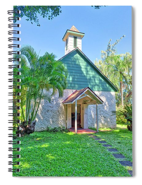 Spiral Notebook featuring the photograph Palapala Ho'omau Congregational Church by Jim Thompson