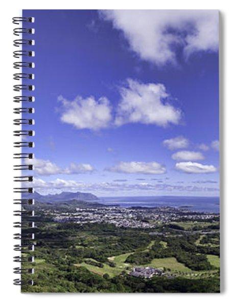 Pali Lookout Panorama Spiral Notebook