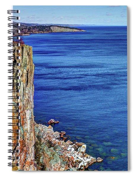 Palisade Head Tettegouche State Park North Shore Lake Superior Mn Spiral Notebook