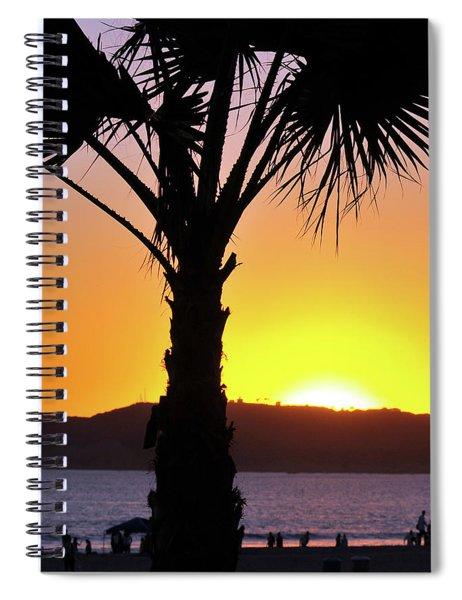 Palm At Sunset Spiral Notebook