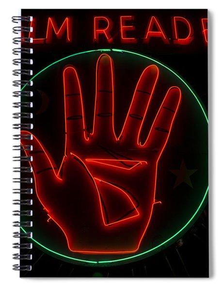 Palm Reader Neon Sign Spiral Notebook