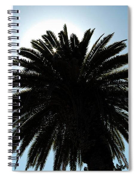 Palm Tree Silhouette Spiral Notebook