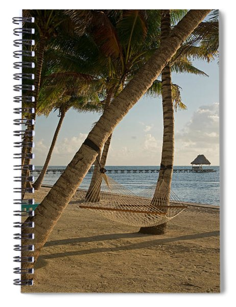 Palm Trees And Hammock On San Pedro Spiral Notebook