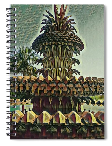 Palms And Pineapples Spiral Notebook