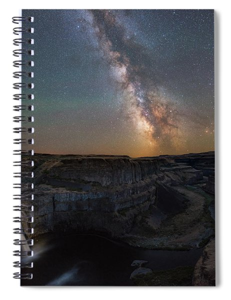 Palouse Falls Night Lights  Spiral Notebook