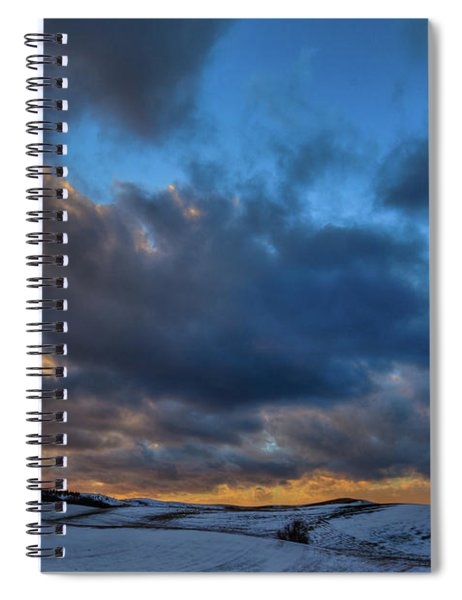 Palouse Winter Sunset Spiral Notebook