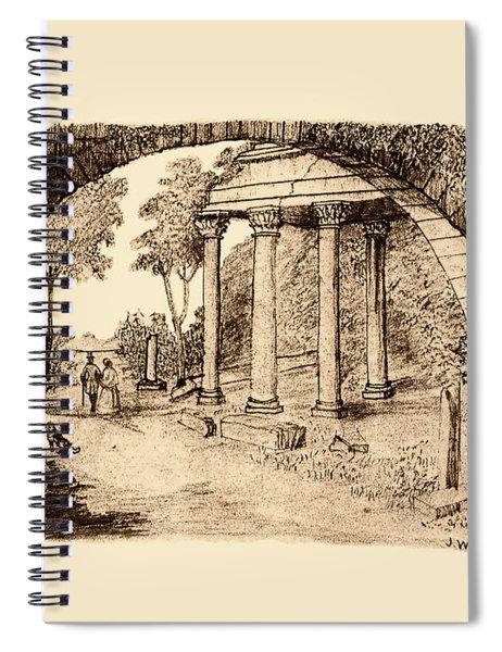 Pan Looking Upon Ruins Spiral Notebook