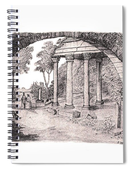 Pan Watching Ruins Of The Past Spiral Notebook