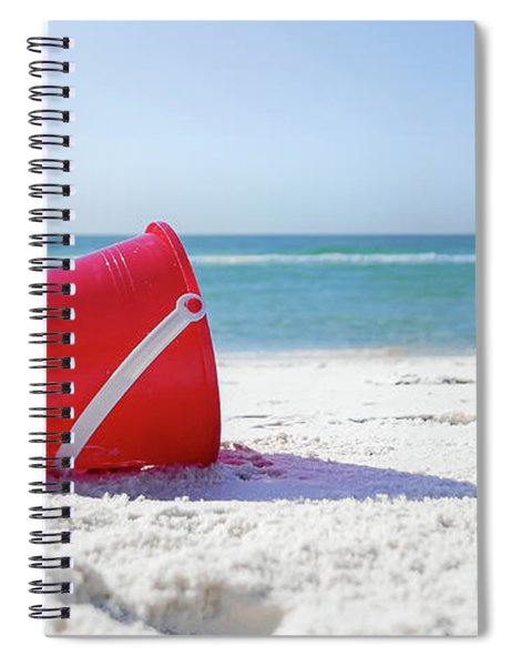 Spiral Notebook featuring the photograph Panama Beach Florida Sandy Beach by Robert Bellomy