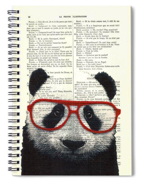 Panda Nursery Art Spiral Notebook