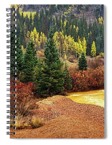 Panorama Of Color Spiral Notebook