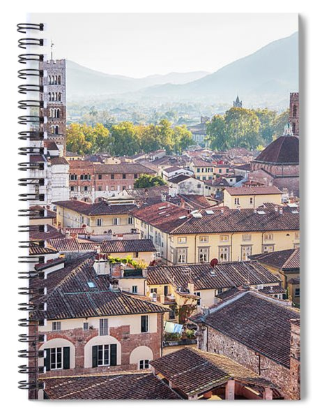 panorama of old town Lucca, Italy Spiral Notebook