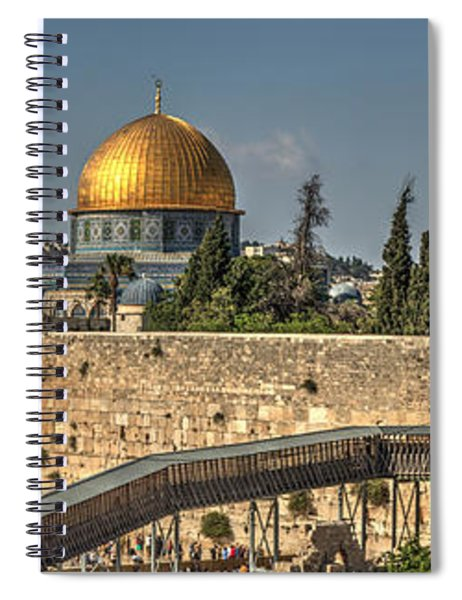 Panorama Of The Western Wall And The Dome Of The Rock Spiral Notebook