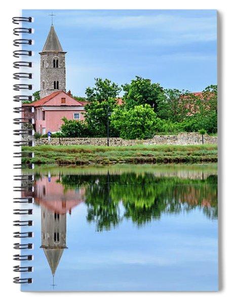 Panoramic Reflections Of Nin, Croatia Spiral Notebook
