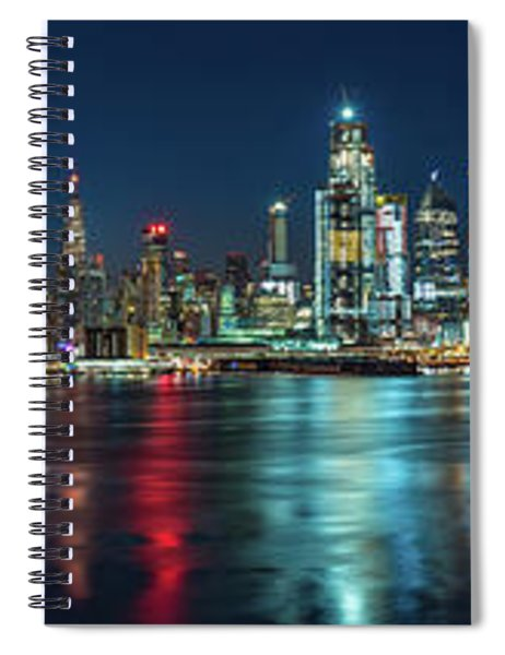 Panoramic Skyline-manhattan Spiral Notebook