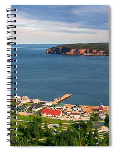 Panoramic View In Perce Quebec Spiral Notebook