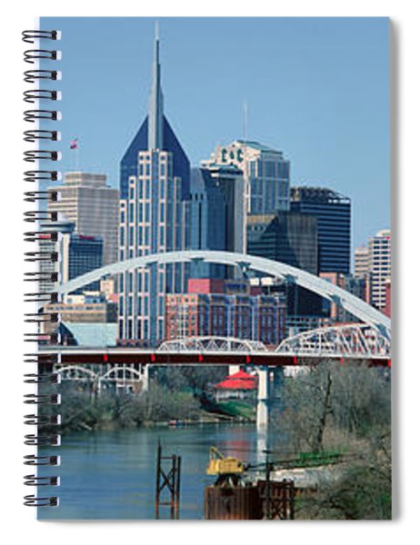 Panoramic View Of Bridge Spiral Notebook