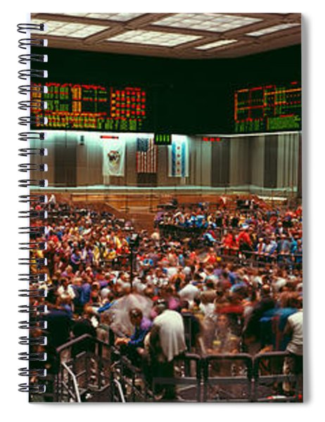 Panoramic View Of Chicago Mercantile Spiral Notebook