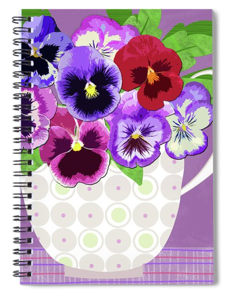 Pansies Stand For Thoughts Spiral Notebook