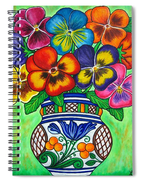 Pansy Parade Spiral Notebook