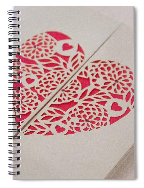 Paper Cut Heart Spiral Notebook