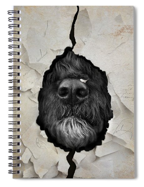 Paper Shredder Spiral Notebook