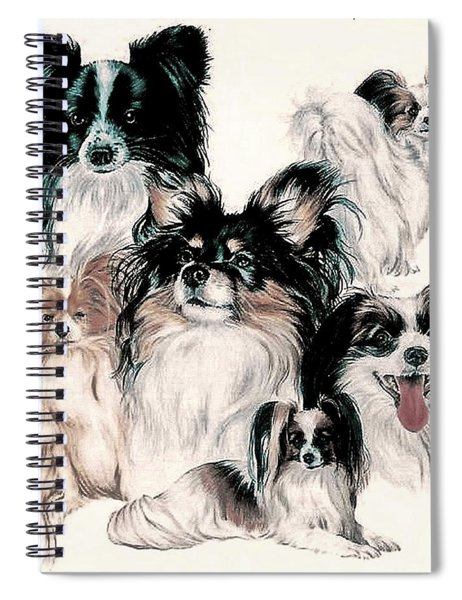 Papillon And Phalene Collage Spiral Notebook